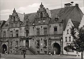 Alte Ansichtskarte Glückstadt Rathaus
