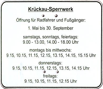 Krückau - Sperrwerk Öffnungszeiten